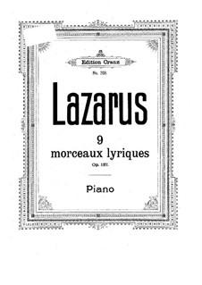 Nuen leichte lyrische Stücke, Op.137: Nuen leichte lyrische Stücke by Gustav Lazarus