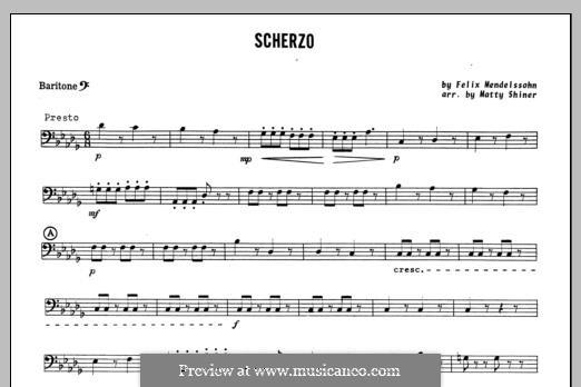 Scherzo: Baritone B.C. part by Felix Mendelssohn-Bartholdy