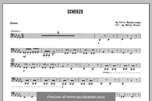 Scherzo: Bassstimme by Felix Mendelssohn-Bartholdy
