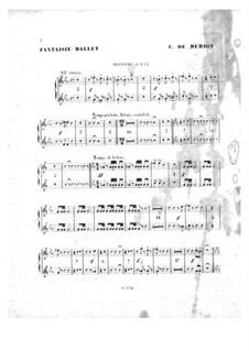 Scène de ballet, Op.100: Kornettenstimmen by Charles-Auguste de Beriot
