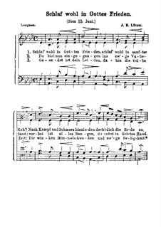 Schlaf wohl in Gottes Frieden (Zum 15. Juni): Schlaf wohl in Gottes Frieden (Zum 15. Juni) by Johann Heinrich Lützel