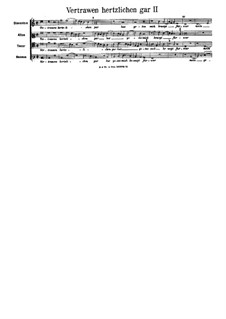 Vertrawen hertzlichen gar: Fassung II by Arnold von Bruck