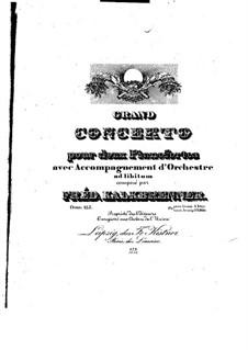 Grosses Konzert für zwei Klaviere, vierhändig, Op.125: Klavierstimme I by Friedrich Kalkbrenner