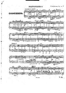 Grosses Konzert für zwei Klaviere, vierhändig, Op.125: Klavierstimme II by Friedrich Kalkbrenner