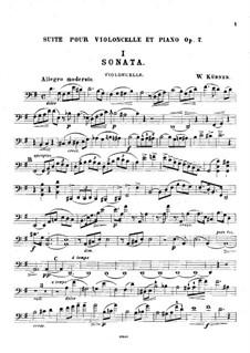 Suite in G-Dur für Cello und Klavier, Op.7: Solostimme by Johann(es) Wilhelm Kühner (needs confirmation)