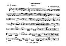 Automania. Galopp für Kornett und Orchester: Althornstimme in Es II by Louis-Philippe Laurendeau