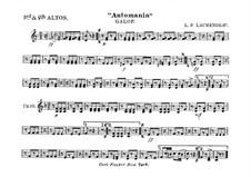 Automania. Galopp für Kornett und Orchester: Althornstimme in Es III-IV by Louis-Philippe Laurendeau
