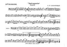 Automania. Galopp für Kornett und Orchester: Posaunestimme II by Louis-Philippe Laurendeau
