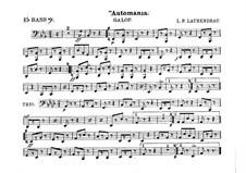 Automania. Galopp für Kornett und Orchester: Bassstimme in Es by Louis-Philippe Laurendeau