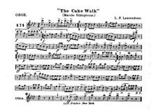 The Cake Walk für Kornett und Orchester : Oboenstimme by Louis-Philippe Laurendeau