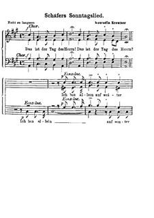 Zwei Chöre: Nr.1 Schäfer's Sonntagslied by Konradin Kreutzer