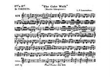 The Cake Walk für Kornett und Orchester : Kornettstimme in B II-III by Louis-Philippe Laurendeau