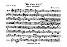 The Cake Walk für Kornett und Orchester : Althornstimme in Es II by Louis-Philippe Laurendeau