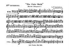 The Cake Walk für Kornett und Orchester : Posaunestimme II by Louis-Philippe Laurendeau