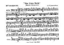 The Cake Walk für Kornett und Orchester : Posaunestimme III by Louis-Philippe Laurendeau