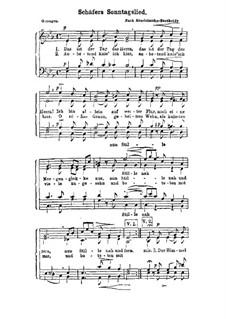 Schäfers Sonntagslied: Schäfers Sonntagslied by Felix Mendelssohn-Bartholdy