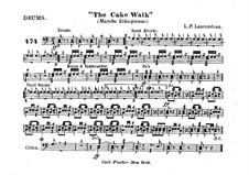 The Cake Walk für Kornett und Orchester : Schlagzeugstimme by Louis-Philippe Laurendeau