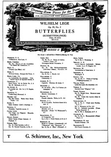 Schmetterlinge, Op.59 No.2: Schmetterlinge by Wilhelm Lege