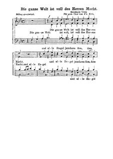 Die ganze Welt ist voll: Singpartitur by Bernhard Klein