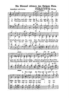 Die Himmel rühmen: Für Chor by Ludwig van Beethoven