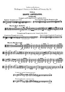 Wellingtons Sieg, oder die Schlacht bei Vittoria, Op.91: Violastimme by Ludwig van Beethoven