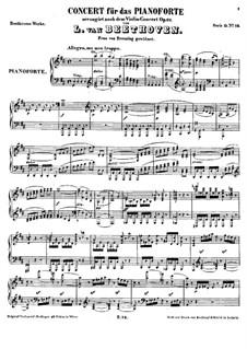Konzert für Violine und Orchester in D-Dur, Op.61: Version für Klavier by Ludwig van Beethoven