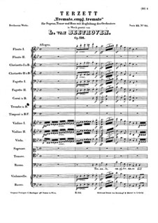 Tremate, empi tremate, Op.116: Vollpartitur by Ludwig van Beethoven