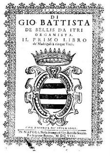 Madrigale für fünf Stimmen: Heft I – Bassstimme by Giovanni Battista de Bellis
