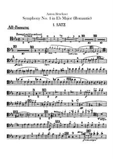 Sinfonie Nr.4 in Es-Dur 'Romantische', WAB 104: Posaune- und Basstubastimmen by Anton Bruckner