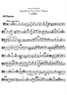 Sinfonie Nr.8 in c-Moll, WAB 108: Posaune- und Kontrabasstubastimmen by Anton Bruckner