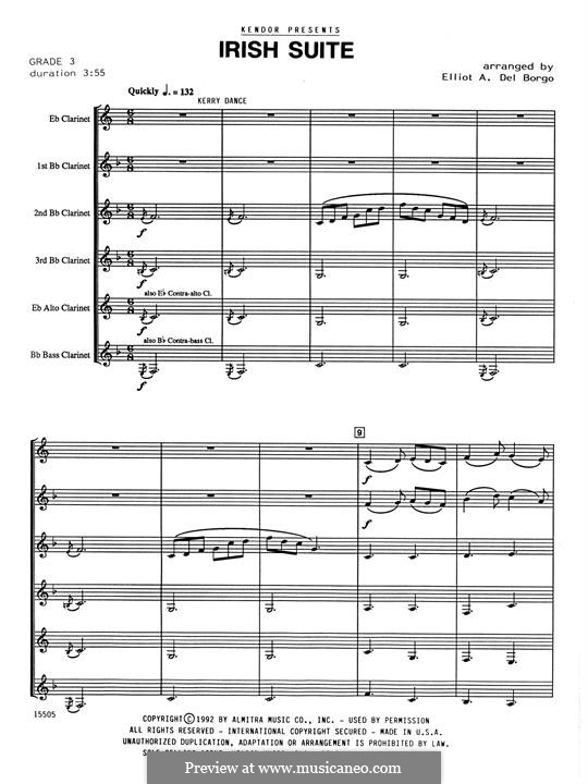 Irish Suite: For clarinets – full score by folklore