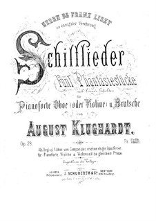 Schilflieder nach Gedichten von Nikolaus Lenau, Op.28: Vollpartitur, Stimmen by August Klughardt