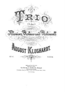 Klaviertrio in B-Dur, Op.47: Klaviertrio in B-Dur by August Klughardt