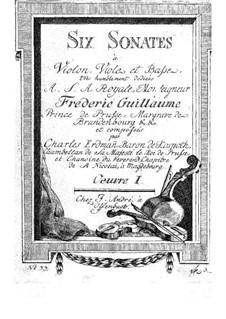 Sechs Sonaten für Streichtrio, Op.1: Violastimme by Otto Carl Erdmann Kospoth