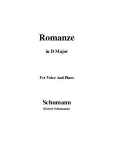Spanische Liebeslieder, Op.138: No.5 Romance, Version III (D Major) by Robert Schumann