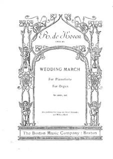 Hochzeitsmarsch für Orgel (oder Klavier), Op.405: Hochzeitsmarsch für Orgel (oder Klavier) by Reginald De Koven