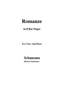 Spanische Liebeslieder, Op.138: No.5 Romance, Version III (D flat Major) by Robert Schumann