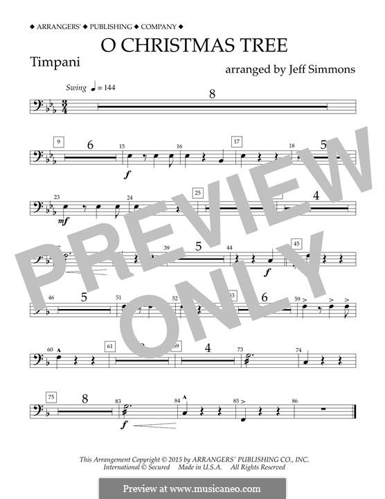 O Christmas Tree (O Tannenbaum), for Orchestra (arr. Jeff Simmons): Paukenstimme by folklore