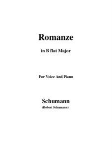 Spanische Liebeslieder, Op.138: No.5 Romance, Version III (B flat Major) by Robert Schumann