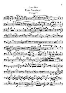 Eine Faust-Symphonie, S.108: Fagottenstimmen I-II by Franz Liszt