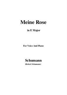 Sechs Gedichte und Requiem, Op.90: No.2 Meine Rose (E Major) by Robert Schumann