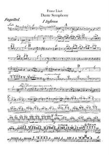 Eine Symphonie zu Dante's Divina Commedia, S.109: Fagottenstimmen I-II by Franz Liszt