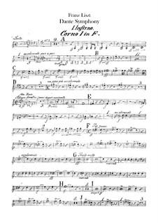 Eine Symphonie zu Dante's Divina Commedia, S.109: Hörnerstimmen I-IV by Franz Liszt
