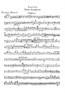 Eine Symphonie zu Dante's Divina Commedia, S.109: Posaunen- und Tubastimmen by Franz Liszt