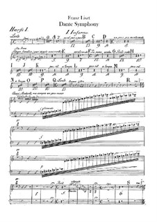 Eine Symphonie zu Dante's Divina Commedia, S.109: Harfestimmen I-II by Franz Liszt
