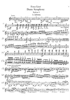 Eine Symphonie zu Dante's Divina Commedia, S.109: Violinstimme I by Franz Liszt