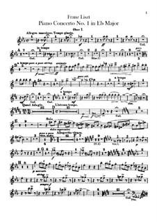 Klavierkonzert Nr.1, S.124: Oboenstimmen I-II by Franz Liszt