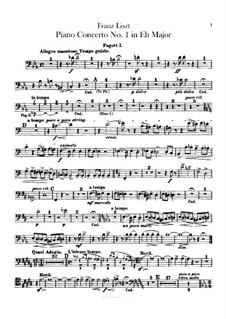 Klavierkonzert Nr.1, S.124: Fagottstimmen I-II by Franz Liszt