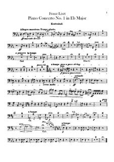 Klavierkonzert Nr.1, S.124: Kontrabassstimme by Franz Liszt