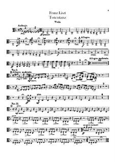 Totentanz für Orchester, S.126: Violastimme by Franz Liszt